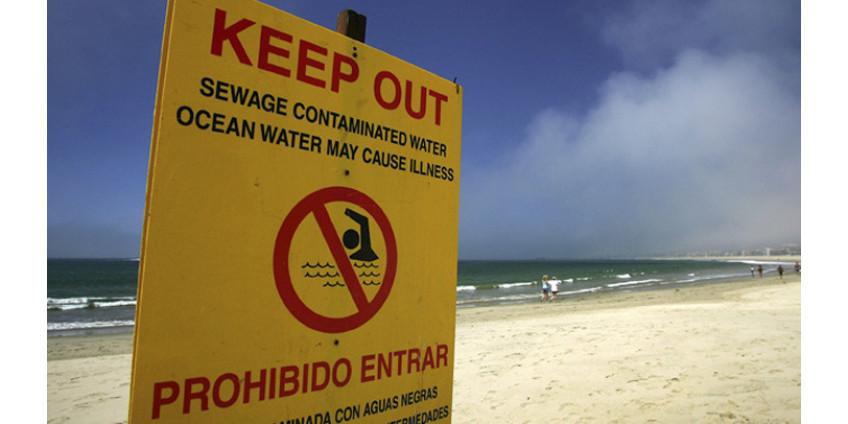 После разлива сточных вод в реке Лос-Анджелес были закрыты пляжи в Лонг-Бич