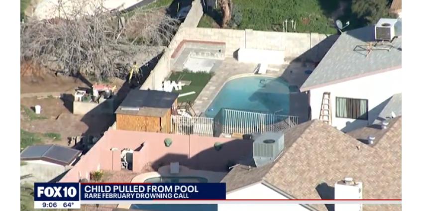 В бассейне в доме в Южном Финиксе едва не утонул мальчик