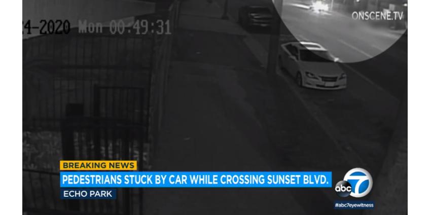 В результате наезда автомобиля в Лос-Анджелесе пострадали мужчина и женщина