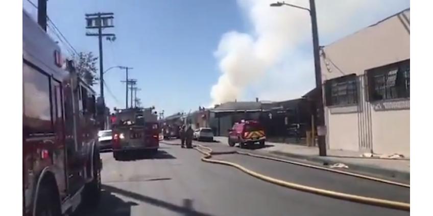Трое жителей Лос-Анджелеса пострадали при взрыве