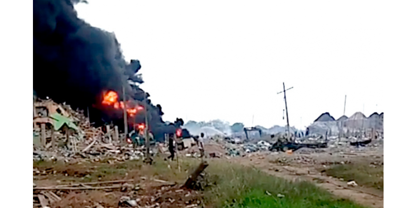 В Нигерии взорван участок нефтепровода