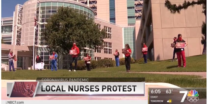 Медработники Сан-Диего устраивают акции протеста из-за недостатка средств индивидуальной защиты