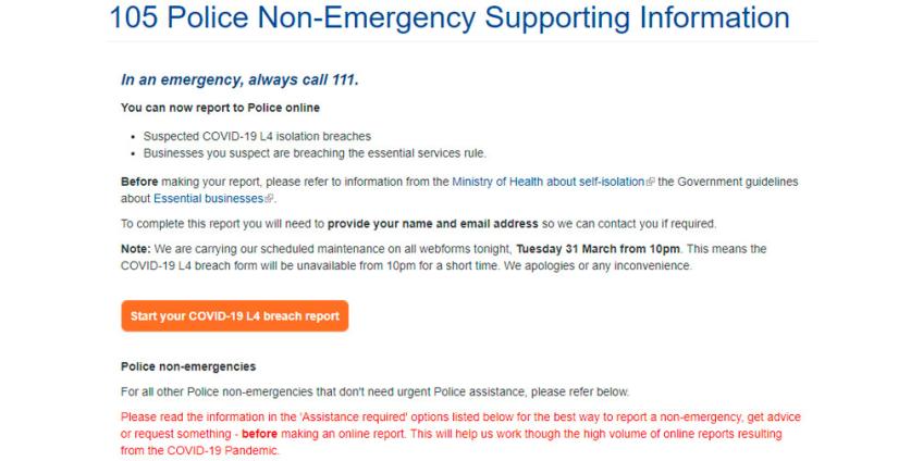 В Новой Зеландии сайт доносов на нарушителей карантина по коронавирусу не справился с потоком жалоб