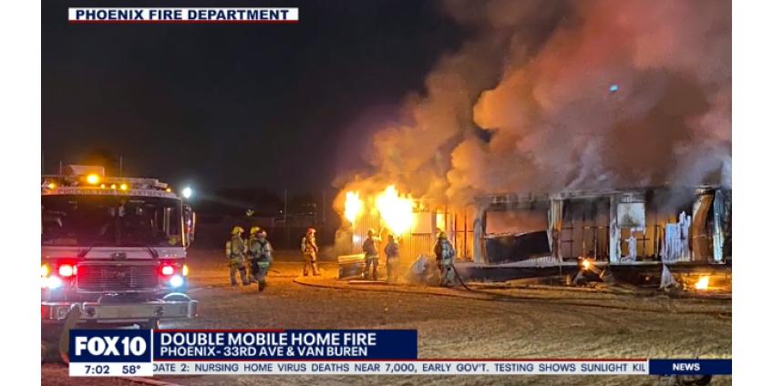 В Финиксе два передвижных дома были уничтожены пожаром