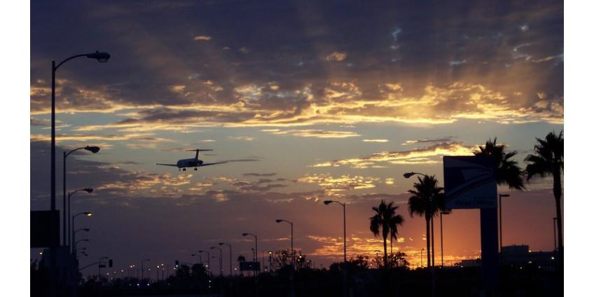 В Лос-Анджелесе остановились 95% авиаперевозок