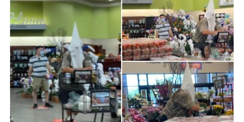 В округе Сан-Диего мужчина пришел в супермаркет в капюшоне Ку-клукс-клана