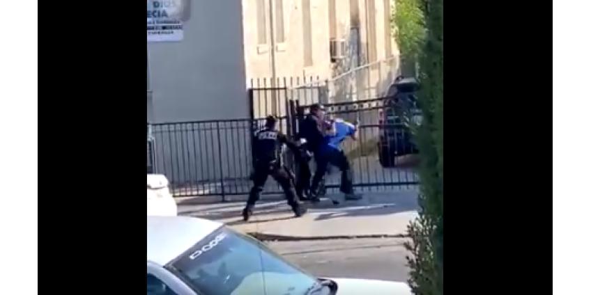 Сотрудник полиции Лос-Анджелеса находится под следствием за чрезмерное применение силы при задержании мужчины