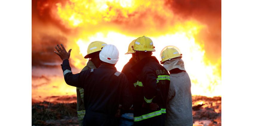 В результате пожара в Лос-Анджелесе пострадали 11 пожарных