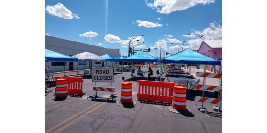 В Лас-Вегасе перекрывают ряд центральных улиц для организации обеденных павильонов