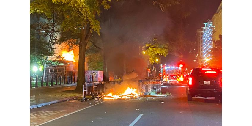 В Вашингтоне ввели комендантский час из-за беспорядков