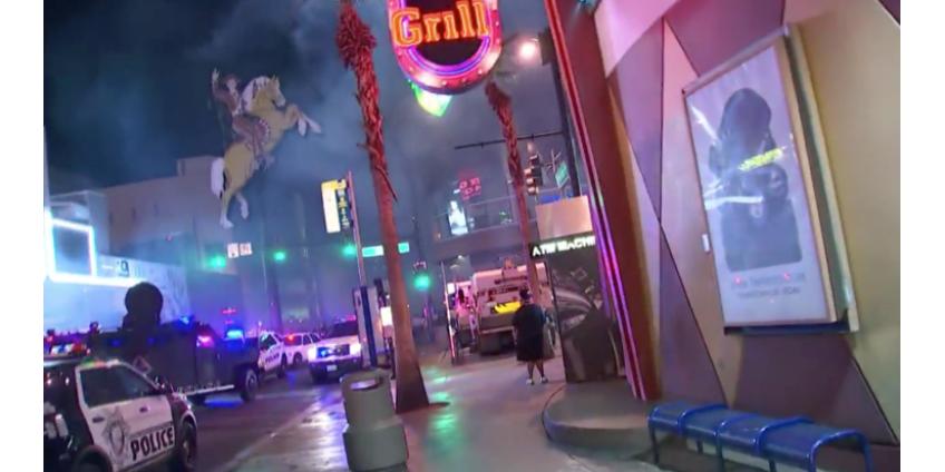 Трое мужчин обвиняются в поджоге полицейской машины в Лас-Вегасе