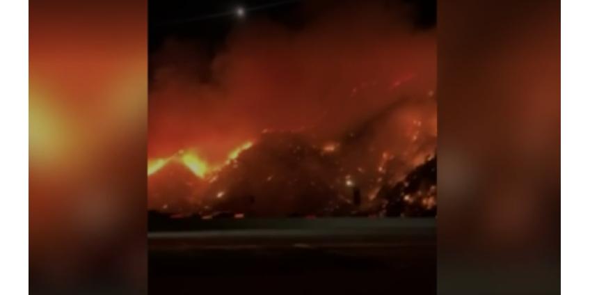 В Лос-Анджелесе разбушевался страшный пожар