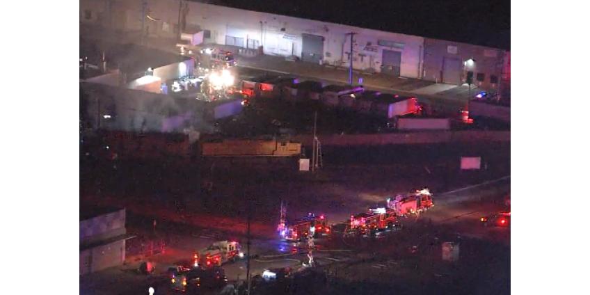 В центре Финикса произошел химический пожар