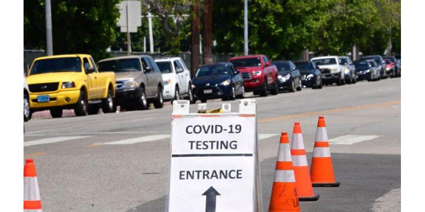 Округ Лос-Анджелес сообщает о еще 1784 случаях COVID-19