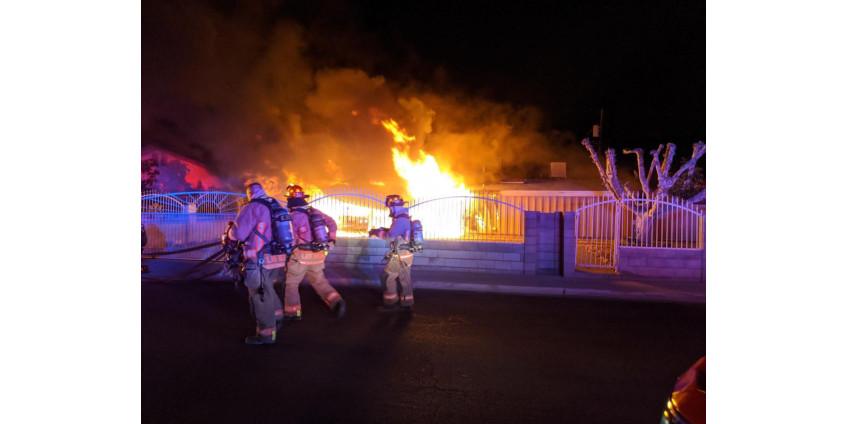 В центре Лас-Вегаса за ночь сгорели два дома