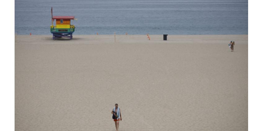 Пляжи округа Лос-Анджелес будут закрыты на выходных четвертого июля