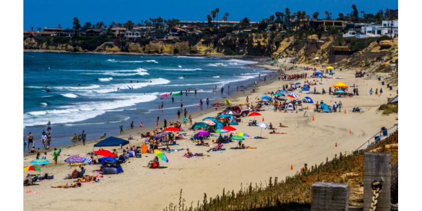 На пляжах Сан-Диего в праздничные выходные будут усилены меры безопасности