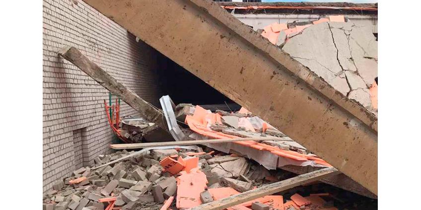 В Кировской области обрушилась стена строящегося торгового центра. Есть погибшие