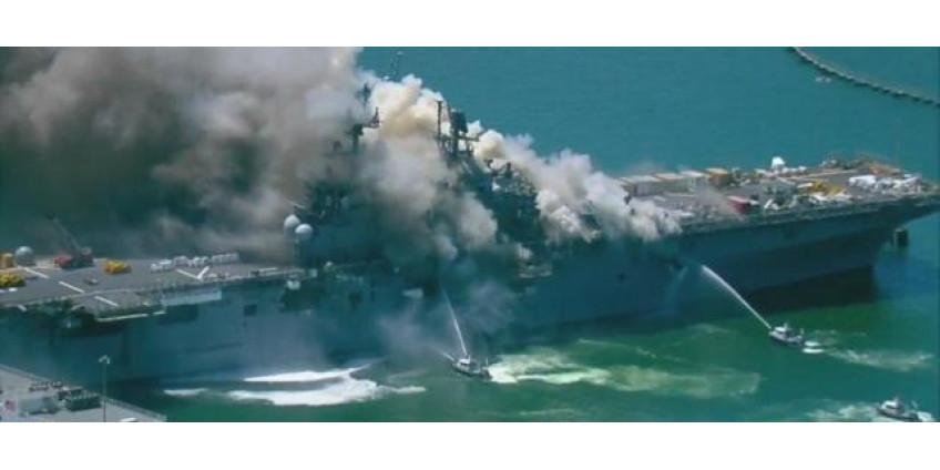 В Сан-Диего количество пострадавших на корабле возросло до 59 человек