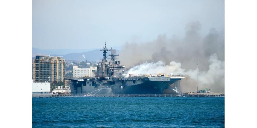Пожар на корабле в Сан-Диего, мог быть поджогом