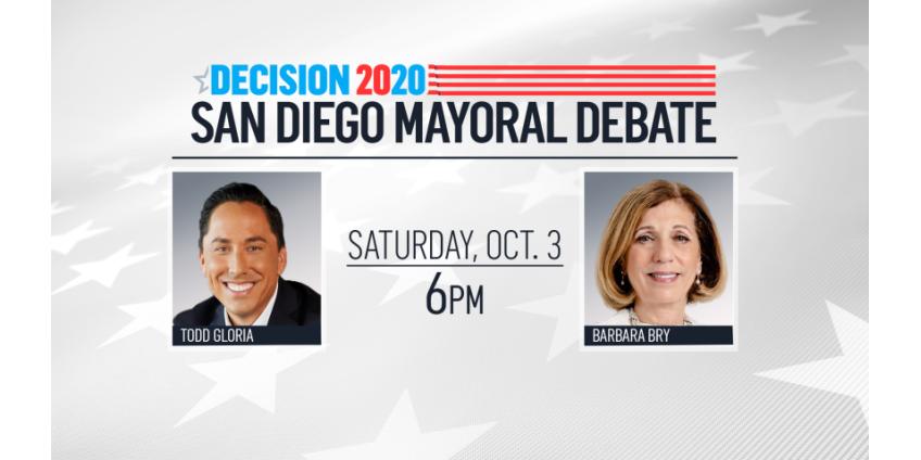 Кандидаты в мэры Сан-Диего Тодд Глория и Барбара Брай провели дебаты