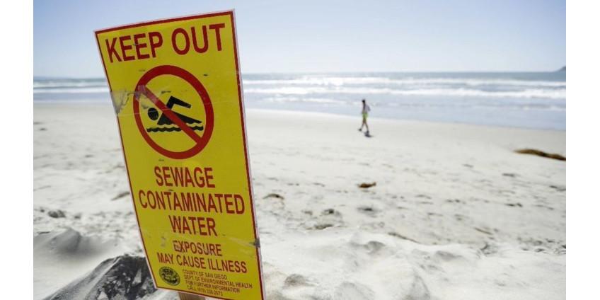Чиновники запретили купаться в Сан-Диего