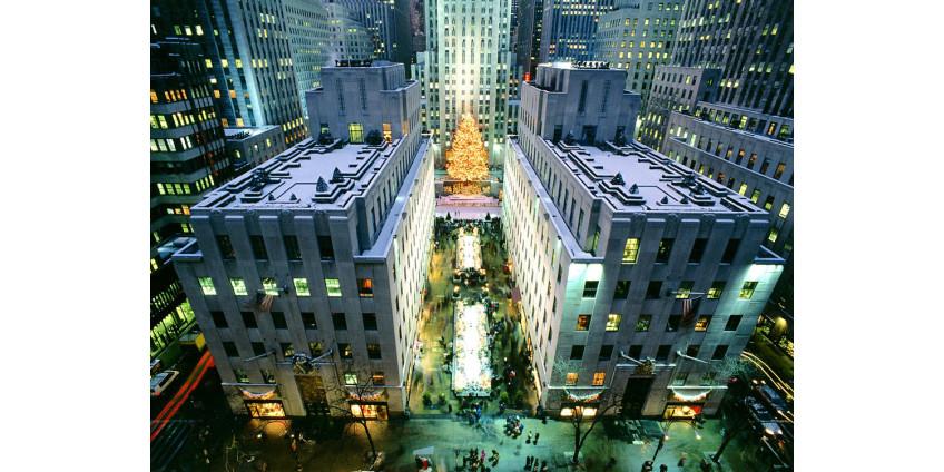 В Рокфеллер-центр Нью-Йорка уже привезли рождественскую елку