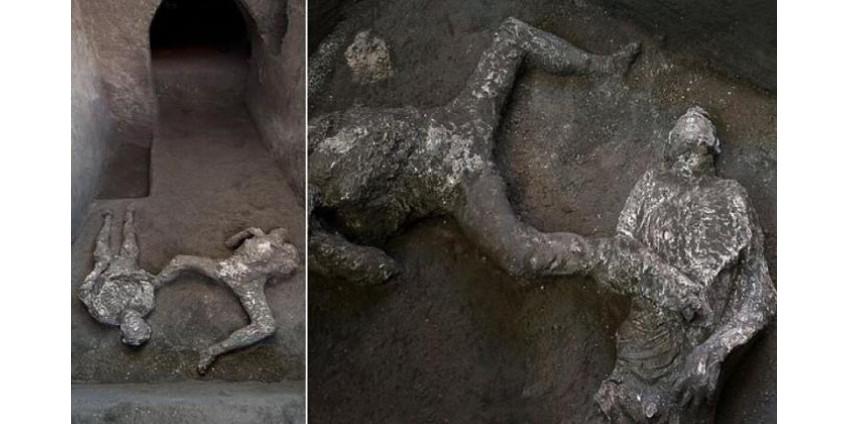 На раскопках в городе Помпеи обнаружены останки двух мужчин, погибших при извержении Везувия в 79 году н.э.