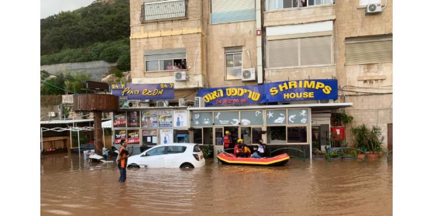 В центральной части Израиля из-за сильных дождей начались наводнения