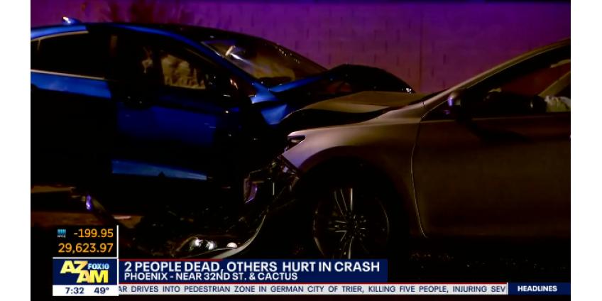 Авария в Финиксе: двое погибших, двое раненых