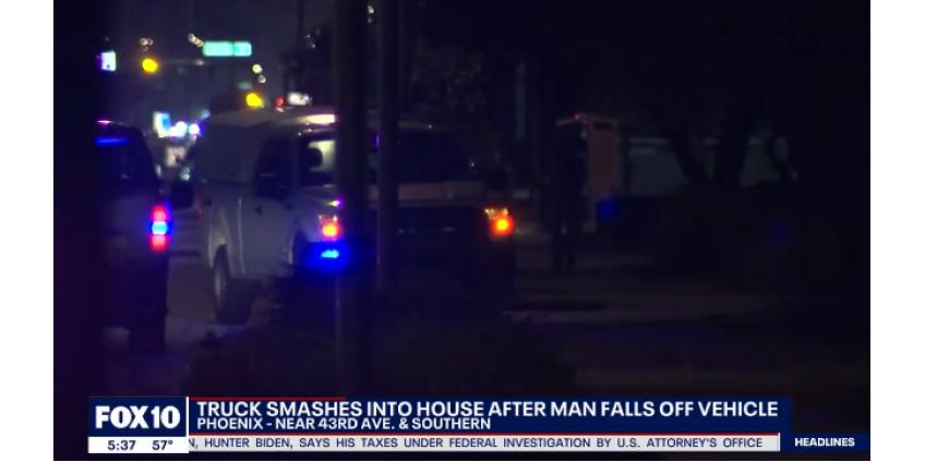 В Финиксе грузовик протаранил дом