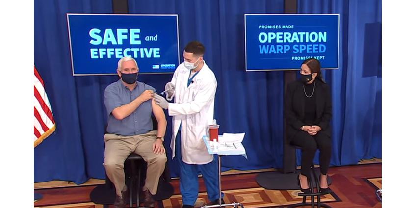 Вице-президент США Пенс в прямом эфире сделал прививку от коронавруса