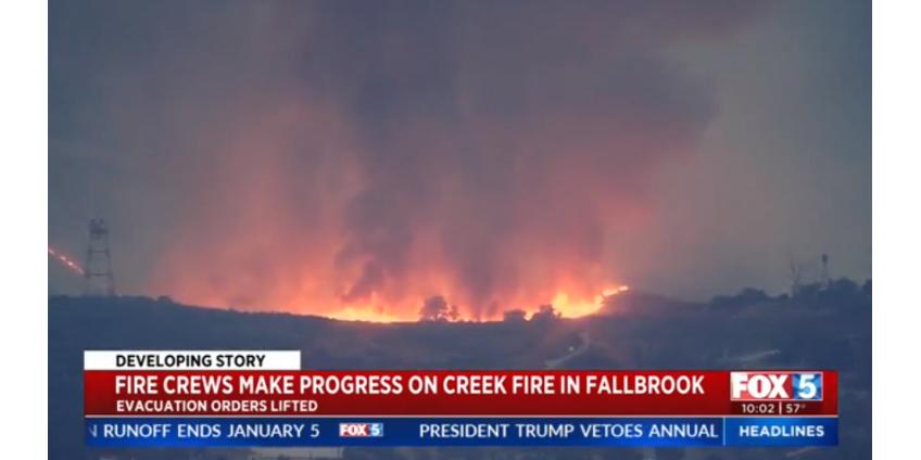 Creek Fire: эвакуация отменена, пожар локализован на 35%