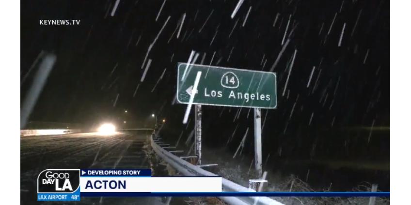 Зимний шторм приносит дождь, снег и большие волны в Южную Калифорнию