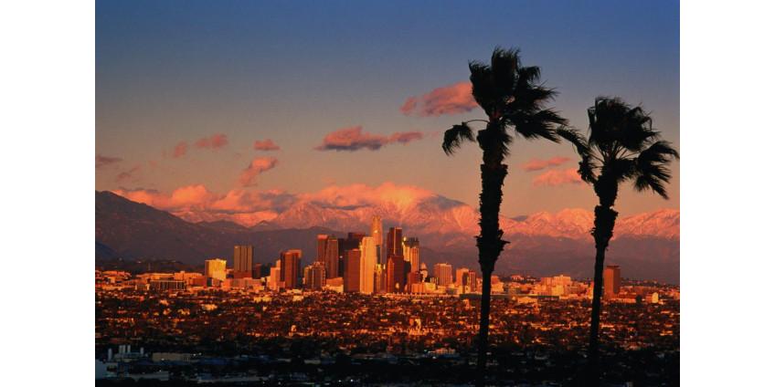 В Лос-Анджелесе на митинг в поддержку Трампа собрались около двух сотен человек