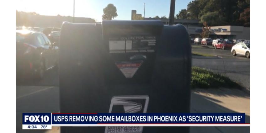 """USPS удаляет некоторые почтовые ящики в Финиксе в качестве """"меры безопасности"""""""