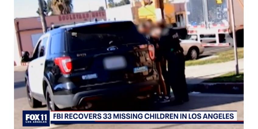 33 пропавших ребенка найдены в ходе совместной операции по борьбе с торговлей людьми в Лос-Анджелесе