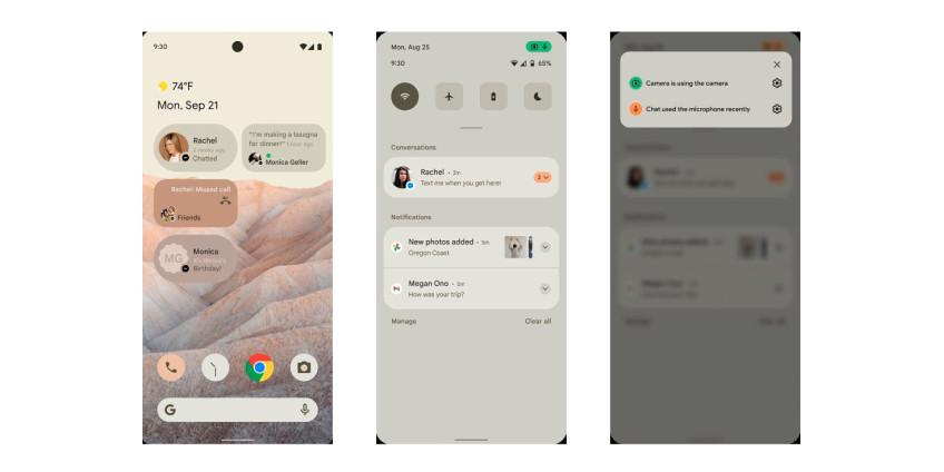 В Сеть утекли первые скриншоты Android 12