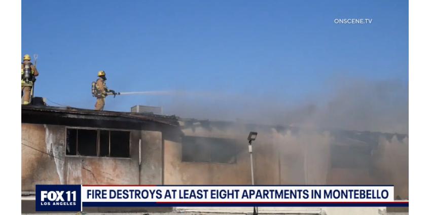 Пожар повредил несколько квартир в Монтебелло, жители были эвакуированы