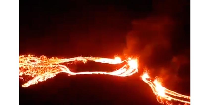 В Исландии началось извержение вулкана Фаградальсфьядль, спавшего 6 тысяч лет