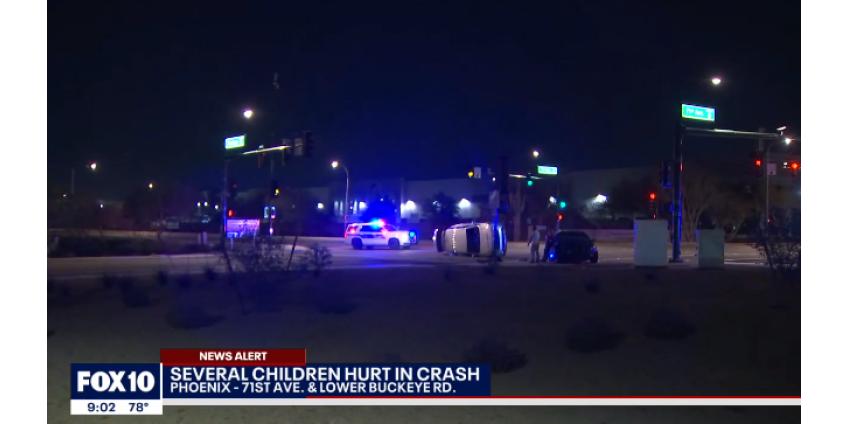 Семеро детей пострадали в аварии в Финиксе, трое находятся в критическом состоянии
