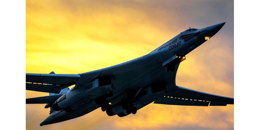 Российские бомбардировщики Ту-160 и Ту-95МС провели в Саратовской области учения с пусками крылатых ракет