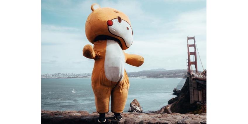 Пешком из Лос-Анджелеса в Сан-Франциско в образе медведя ради благотворительности