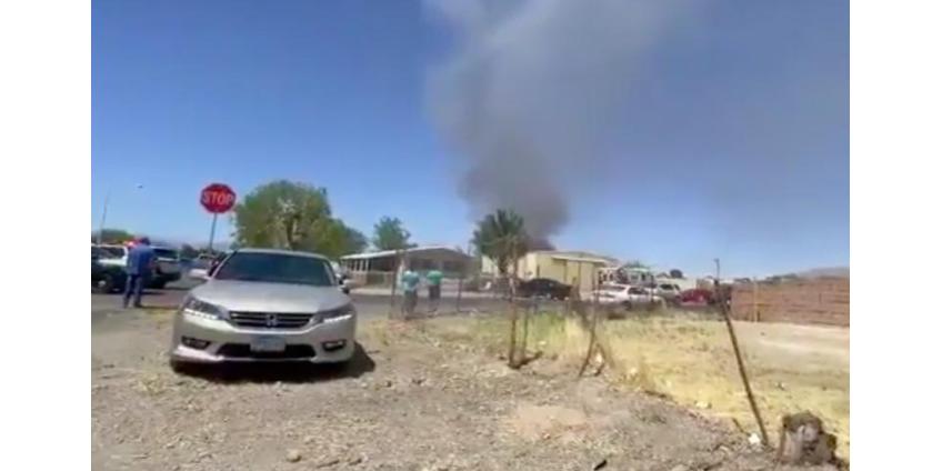 На северо-востоке Лас-Вегаса разбился самолет