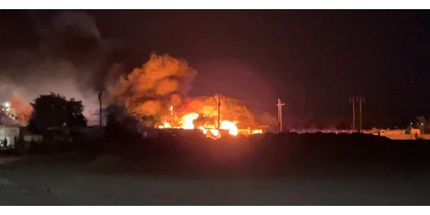 Несколько человек остались без крова после крупного пожара в пригороде Лас-Вегаса