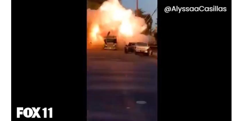 В Лос-Анджелесе результате взрыва грузовика с пиротехникой пострадали 17 человек