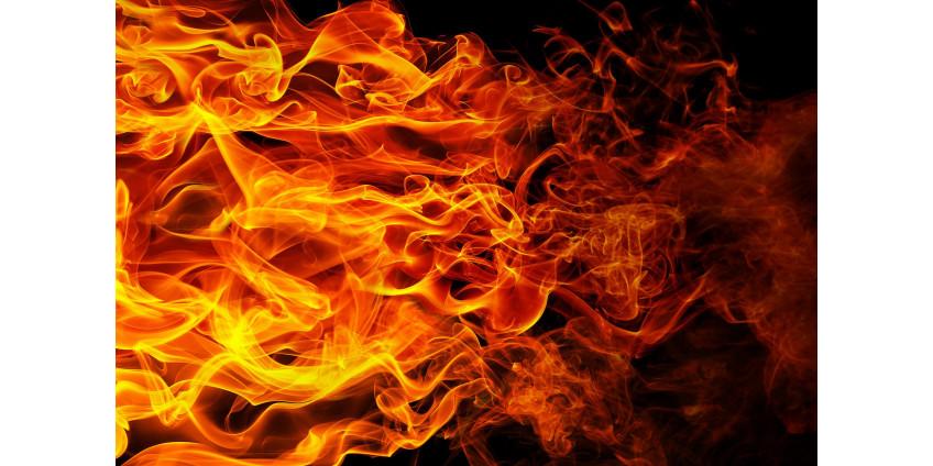 Пожарные борются с огнем в отдаленном районе в окрестностях Малибу