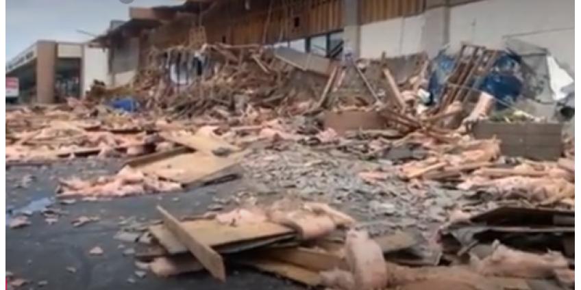 В Лас-Вегасе четыре человека пострадали при обрушении фасада супермаркета
