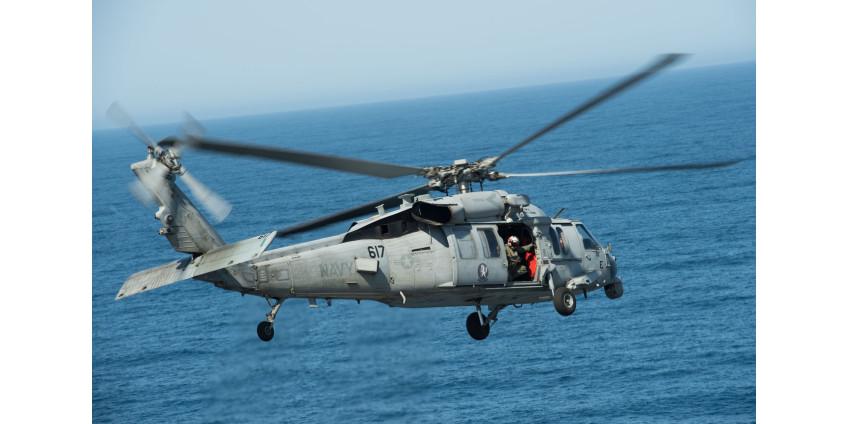 Вертолет военно-морского флота потерпел крушение у побережья Сан-Диего