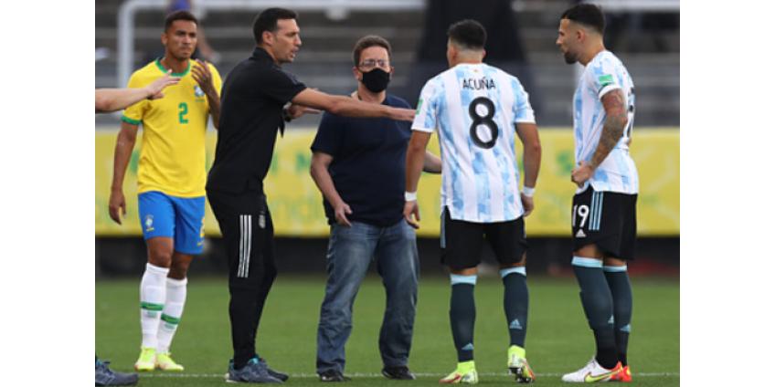 Стала известна причина ухода с поля сборной Аргентины в матче против Бразилии